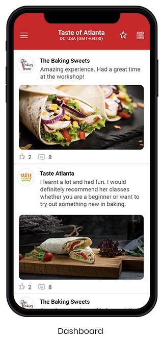 Food Festival App - Dashboard