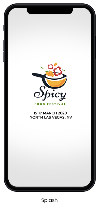 Food Festival App - Home Screen