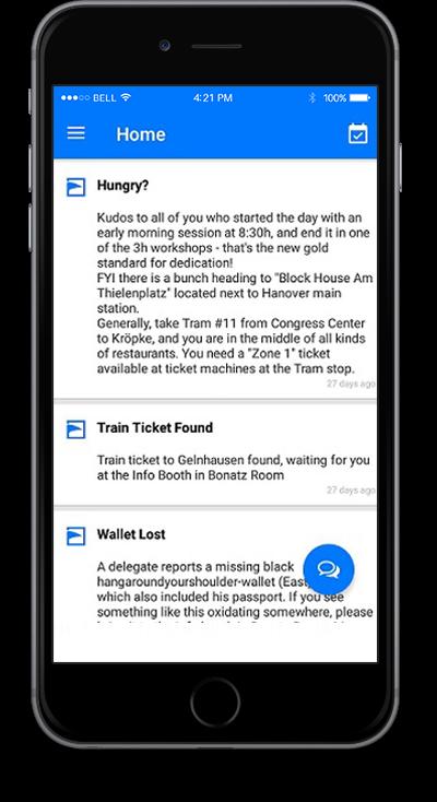 eventRAFT App - Home Screen