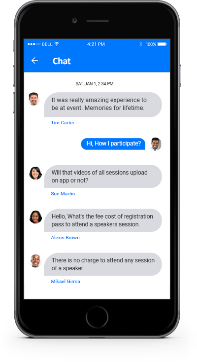 eventRAFT App - Chat Screen