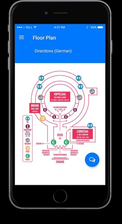 eventRAFT App - Floor Plan Screen