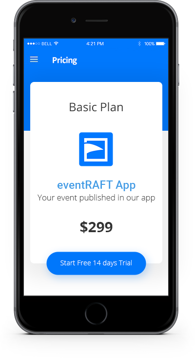 eventRAFT App - Pricing - Basic Plan