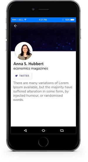 eventRAFT App - About Speaker Screen