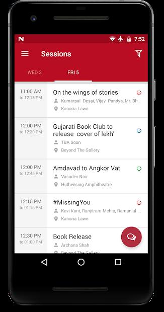 eventRAFT - Premium Branded App - GLF - Session Screens