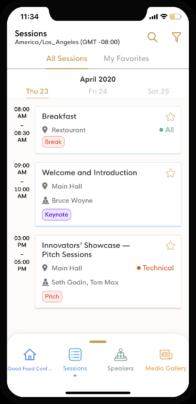 eventRAFT - Personalized Agenda - event mobile app