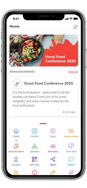 Mobile app for conferences and event